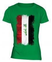 Iraq Grunge Flag Ladies T-Shirt