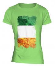 Ireland Grunge Flag Ladies T-Shirt
