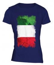 Italy Grunge Flag Ladies T-Shirt