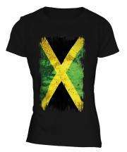 Jamaica Grunge Flag Ladies T-Shirt