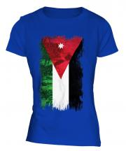 Jordan Grunge Flag Ladies T-Shirt
