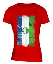 Kabardino-Balkaria Grunge Flag Ladies T-Shirt