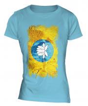 Kalmykia Grunge Flag Ladies T-Shirt