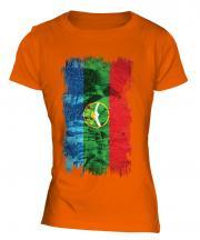 Karachay-Cherkessia Grunge Flag Ladies T-Shirt