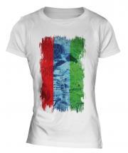 Karelia Grunge Flag Ladies T-Shirt