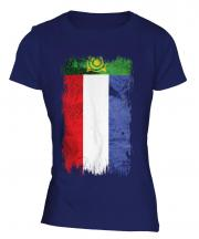 Khakassia Grunge Flag Ladies T-Shirt