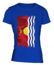 Kiribati Grunge Flag Ladies T-Shirt