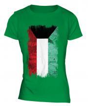 Kuwait Grunge Flag Ladies T-Shirt