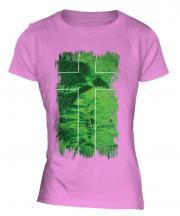 Ladonia Grunge Flag Ladies T-Shirt