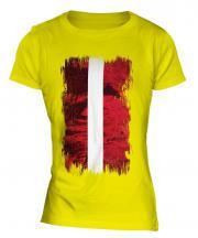 Latvia Grunge Flag Ladies T-Shirt