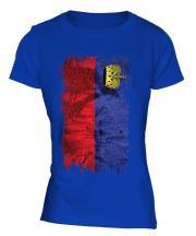 Liechtenstein Grunge Flag Ladies T-Shirt