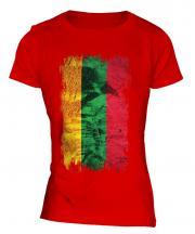 Lithuania Grunge Flag Ladies T-Shirt