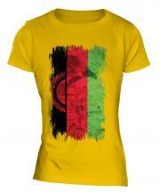 Malawi Grunge Flag Ladies T-Shirt