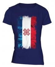 Mari El Grunge Flag Ladies T-Shirt