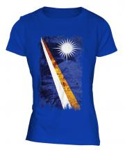 Marshall Islands Grunge Flag Ladies T-Shirt