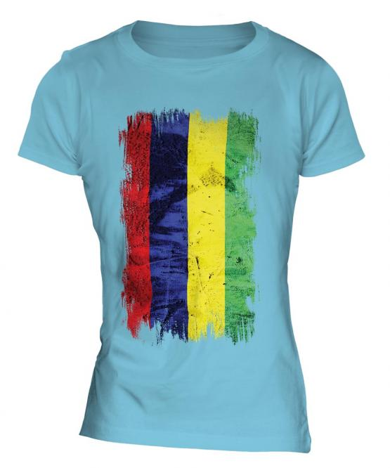 Mauritius Grunge Flag Ladies T-Shirt