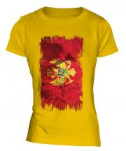 Montenegro Grunge Flag Ladies T-Shirt