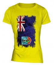 Montserrat Grunge Flag Ladies T-Shirt
