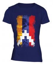 Nagorno-Karabakh Republic Grunge Flag Ladies T-Shirt