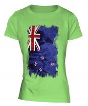 New Zealand Grunge Flag Ladies T-Shirt
