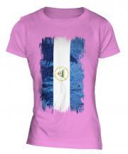 Nicaragua Grunge Flag Ladies T-Shirt
