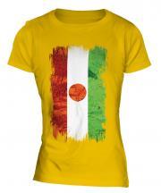 Niger Grunge Flag Ladies T-Shirt