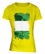 Nigeria Grunge Flag Ladies T-Shirt