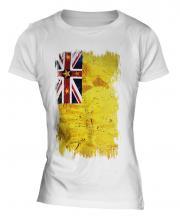 Niue Grunge Flag Ladies T-Shirt