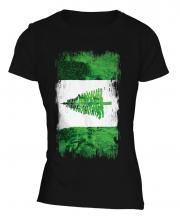 Norfolk Island Grunge Flag Ladies T-Shirt