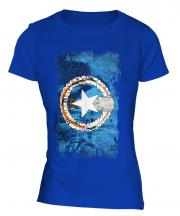 Northern Mariana Islands Grunge Flag Ladies T-Shirt