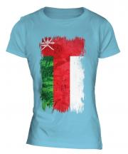 Oman Grunge Flag Ladies T-Shirt