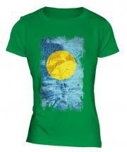 Palau Grunge Flag Ladies T-Shirt
