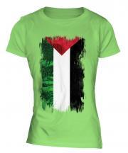 Palestine Grunge Flag Ladies T-Shirt