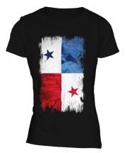 Panama Grunge Flag Ladies T-Shirt