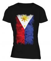 Philippines Grunge Flag Ladies T-Shirt