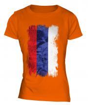 Republika Srpska Grunge Flag Ladies T-Shirt