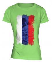 Russia Grunge Flag Ladies T-Shirt