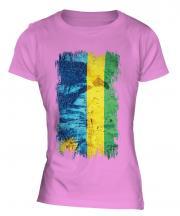 Rwanda Grunge Flag Ladies T-Shirt