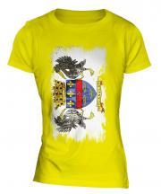 Saint Barthelemy Grunge Flag Ladies T-Shirt