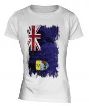 Saint Helena Grunge Flag Ladies T-Shirt