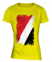 Sealand Grunge Flag Ladies T-Shirt