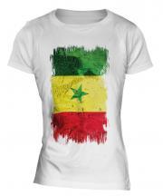 Senegal Grunge Flag Ladies T-Shirt