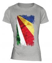 Seychelles Grunge Flag Ladies T-Shirt