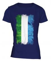 Sierra Leone Grunge Flag Ladies T-Shirt