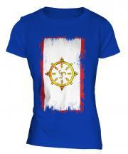 Sikkim Grunge Flag Ladies T-Shirt