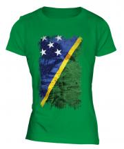 Solomon Islands Grunge Flag Ladies T-Shirt