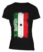 Somaliland Grunge Flag Ladies T-Shirt