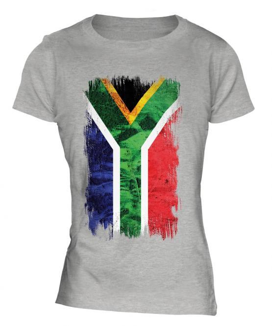 South Africa Grunge Flag Ladies T-Shirt