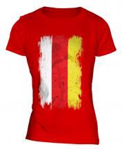 South Ossetia Grunge Flag Ladies T-Shirt