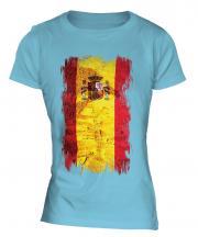 Spain Grunge Flag Ladies T-Shirt